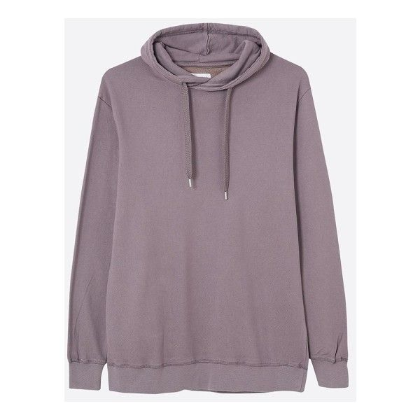 Gloome Hoodie In Dusty Lavender ($135) ❤ liked on Polyvore featuring tops, hoodies, purple hoodie, light purple hoodie, hoodie top, purple hooded sweatshirt and purple hoodies