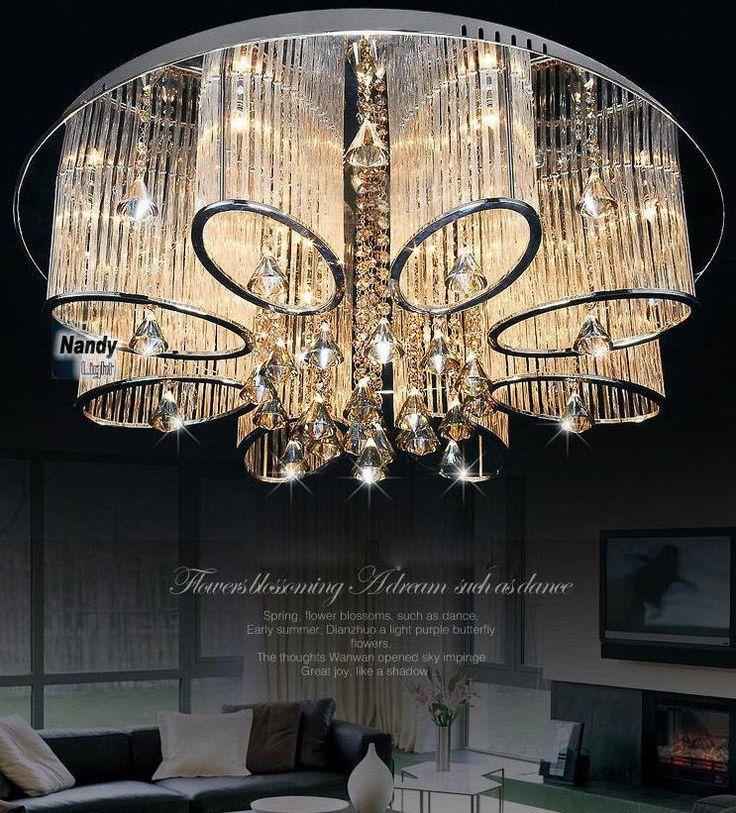 Modern Luxury Living Room Ceiling Lamp Fixture Crystal Chandelier Lighting