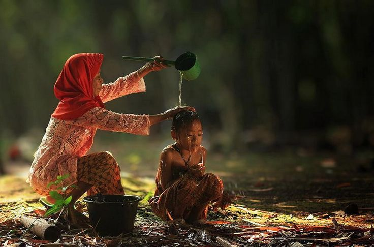 Bathing time, Indonesia