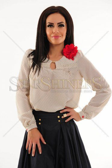 Bluza Fofy Delicate Flowers Nude