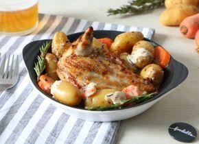 Une super recette de Suprême de pintade fermière rôti à la bière et au romarin par Foodette