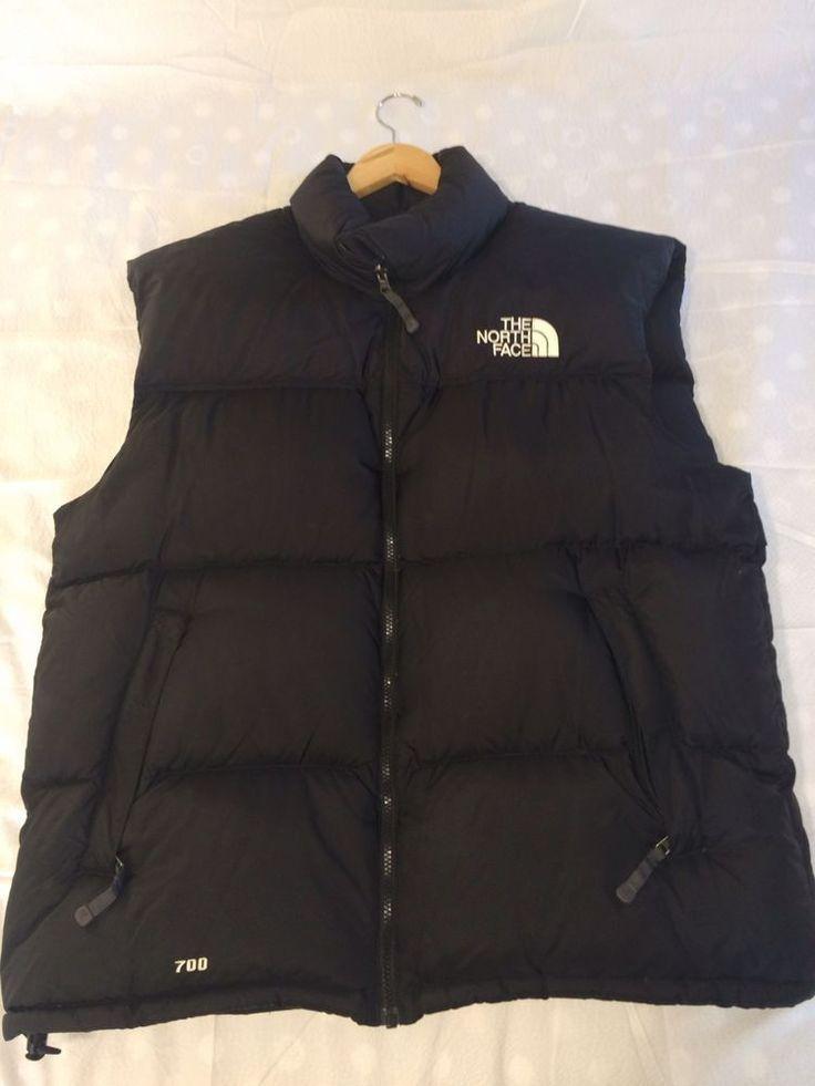 North face Men's Nuptse Down Vest Black Xl    eBay