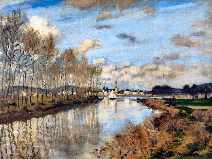 Claude Monet - Argenteuil, Seen from the Small Arm of the Seine (1872)