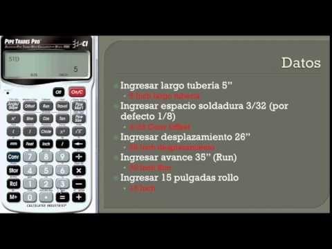 Cálculo de la Longitud y Angulo de Inclinacion de una Tuberia - YouTube