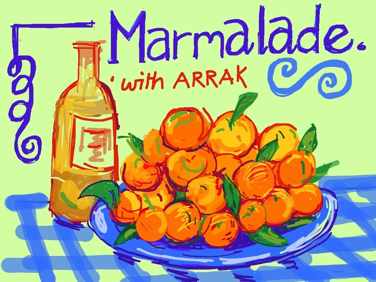 Label for last year.s marmalade.... He says its the best in the world...