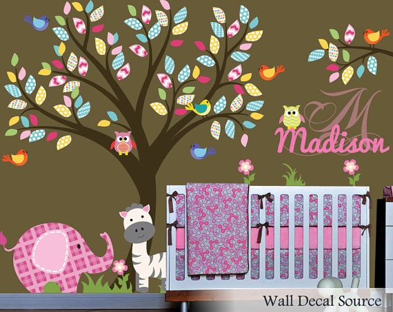 Best Nursery Wall Decals Images On Pinterest Nursery Wall - Monogram wall decal for nursery