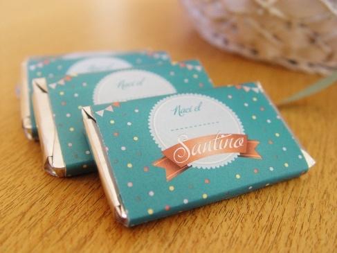 Souvenir Nacimiento de Santino. | Chocolatines + Tarjetas.    ® MORRONGO DESIGN 2012. All rights reserved