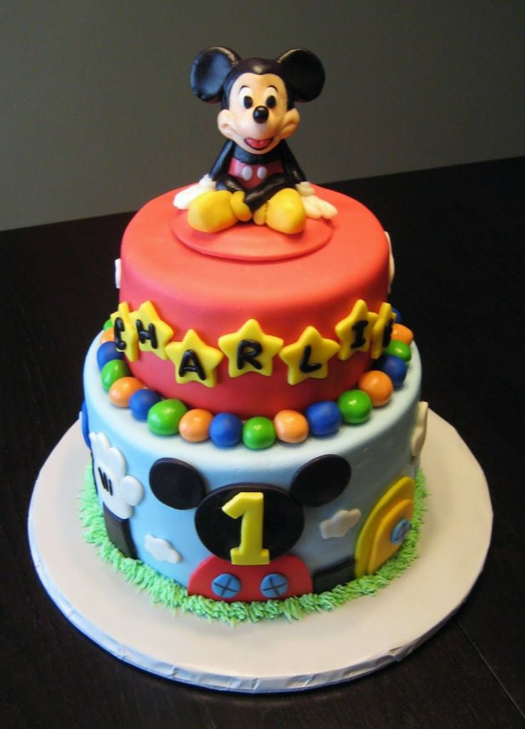 The 25 best Baby mickey mouse cake ideas on Pinterest Mickey