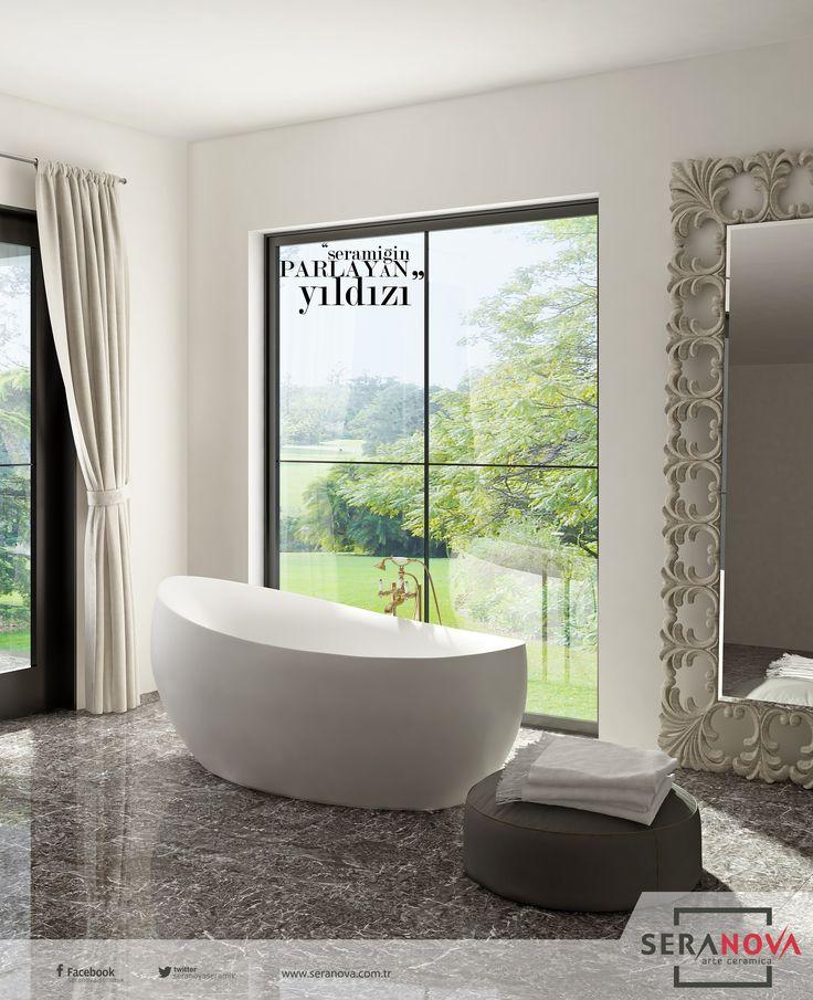 Siyah banyo dekorasyonu zevkli bir macera olabilir. Karanlık ve sıkıcı bir sonuç almamak için ilk olarak bir tema belirleyip, ayrıntılara özen göstermeniz gerekir. Daha fazla bilgi almak için bayilerimize gelebilirsiniz. #seranova #seramik #banyo #dekorasyonu #decor #design #decoration #bathroom #turkey