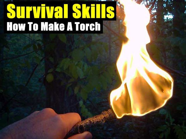 Survival Skills: How To Make A Torch - http://www.survivalacademy.co/