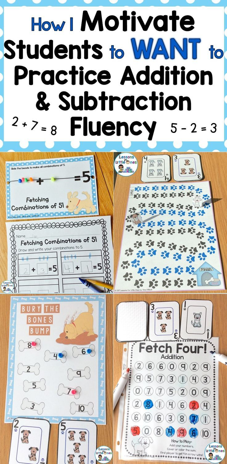 Motivational Fun Addition Subtraction Practice Lessons For Little Ones By Tina O Block Subtraction Practice Addition And Subtraction Addition And Subtraction Practice Adding and subtracting equations game