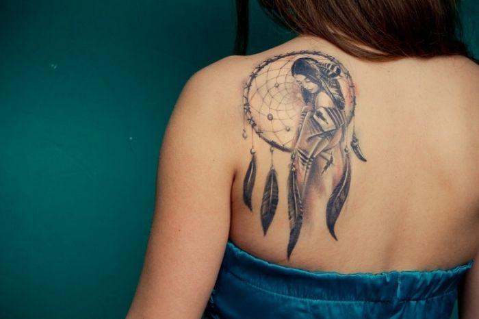 татуировки на спине женские фото