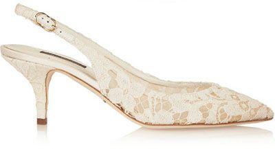 The Perfect Kitten Heel Wedding Shoes