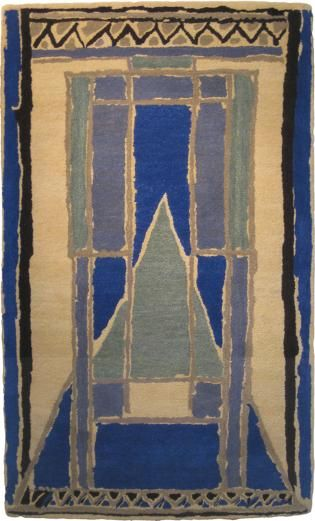 Design for rug from Omega Workshops (1913-1919). Probably by Duncan Grant or Vanessa Bell