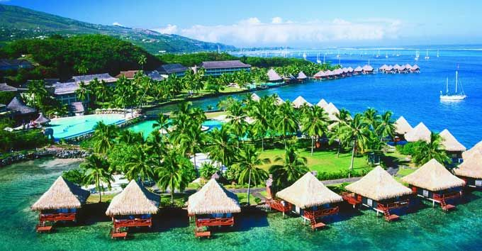 This Tahiti Resort is perfect for those who've dreamed of the experience but aren't willing to pay US$600 or more per night. There are 32 over water bungalows here, each perched just off of a small island in the lagoon.  The location just a short distance from the Tahiti Airport is another part of its appeal. Many people going on to Bora Bora or Moorea have to spend one night in Tahiti on their way in or out of the South Pacific, so this resort can come in handy.