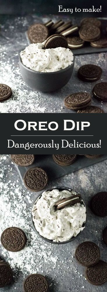 Oreo Dip Recipe - Party Appetizer via @foxvalleyfoodie