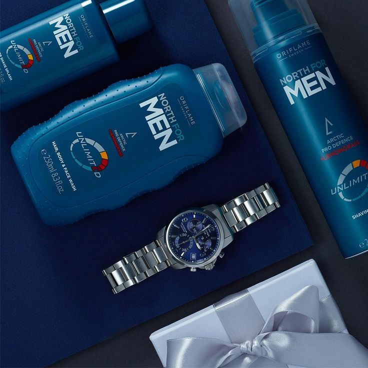 Your man deserves a treat! Surprise him with a set of our popular North for Men products.  #Oriflame #NorthForMen