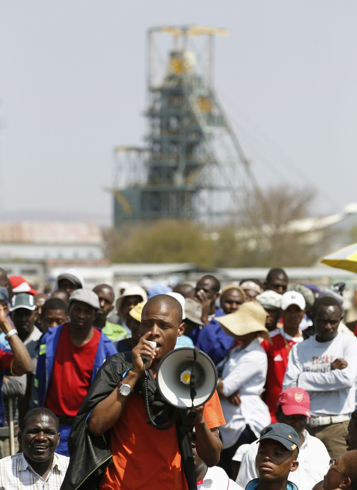 """Anglo American Platinum, the biggest producer of the metal, said one person died after a """"disruptive protest"""" by striking workers in South Africa.  Strikers clashed with security guards and police between a worker settlement and a mine shaft, according to Franz Stehring, an organiser for the UASA union, which didn't join the walkout.  Click here to read the full story: http://www.iol.co.za/business/companies/one-killed-during-anglo-platinum-protest-1.1643800#.UvUPDdLO7Zs"""