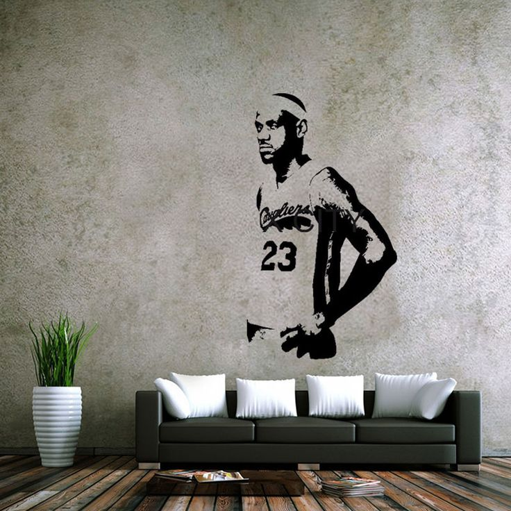 LeBron James Poster Wall Stickers of the NBA Cavaliers home decoration decal vinyl wall stickers