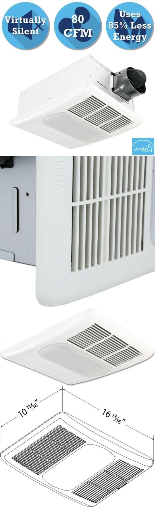 Other Home Heating and Cooling 20598: Bathroom Ceiling Exhaust Bath Fan With Light And Heater Lamp Quiet Air Ventilation -> BUY IT NOW ONLY: $109.96 on eBay!