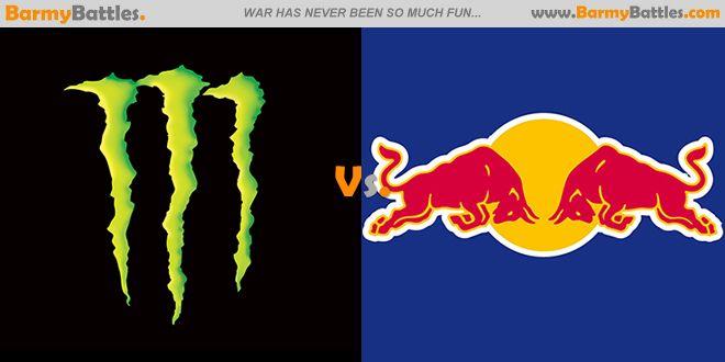 Two of the most popular energy drinks on the market Red Bull and Monster Energy. #RedBull #MonsterEnergy #EnergyDrink CLICK HERE TO VOTE: http://www.barmybattles.com/2014/01/20/monster-energy-vs-red-bull/