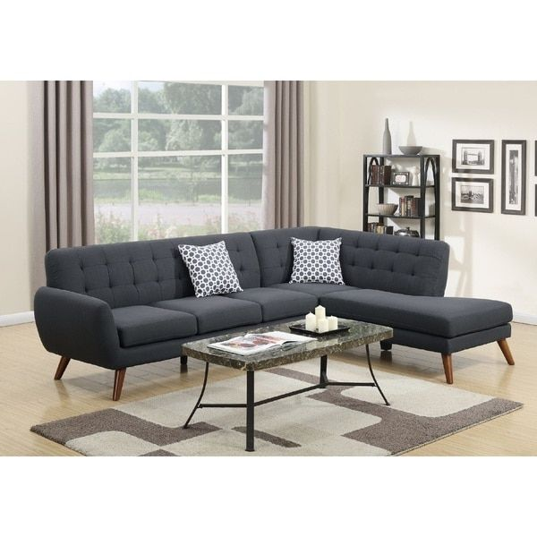 Vincent 2-PCs Mid Century Sectional Sofa Set