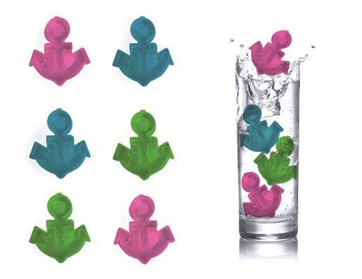 Cubitos de hielo con forma de ancla, de Kikkerland en @2150idees