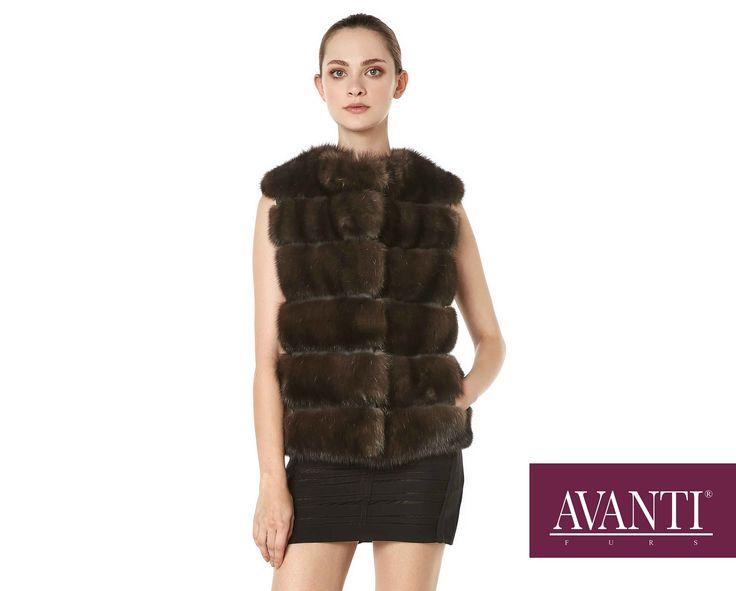 AVANTI FURS - MODEL: JESY SABLE VEST with Leather details #avantifurs #fur #fashion #fox #luxury #musthave #мех #шуба #стиль #норка #зима #красота #мода #topfurexperts