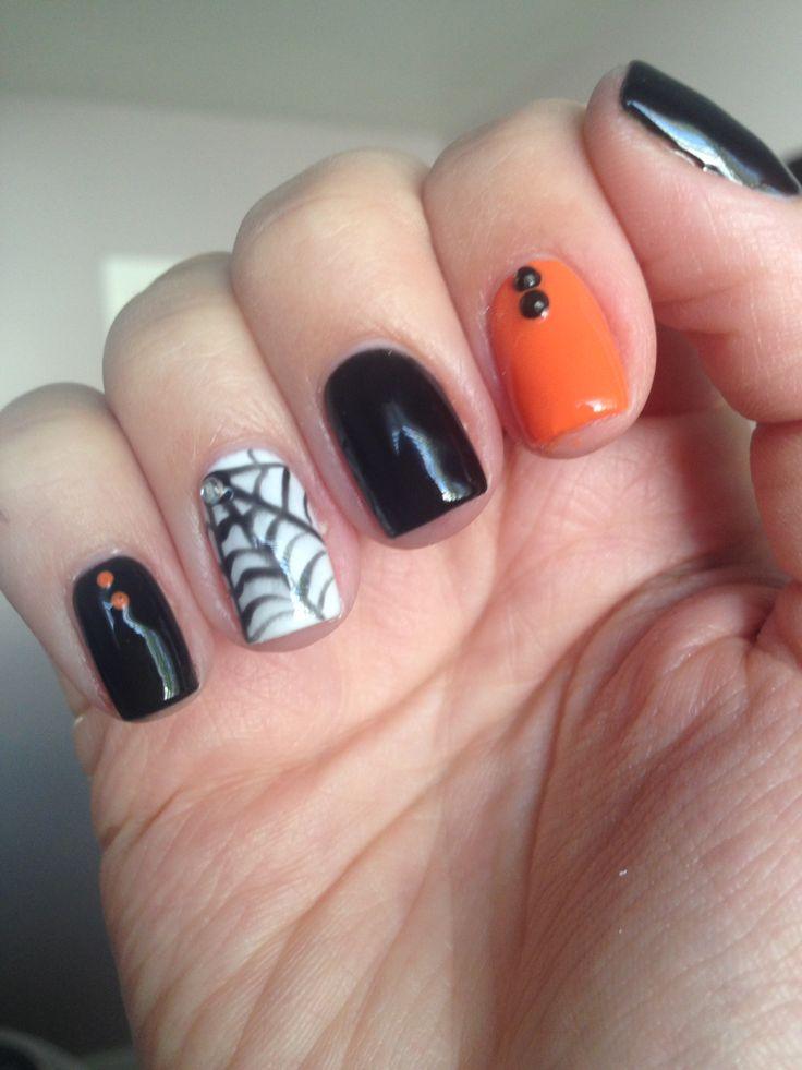 Halloween short nails | Nail Art | Pinterest
