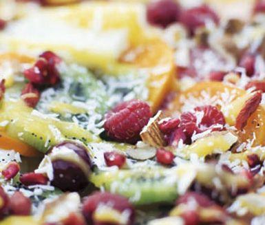 Recept: Fruktsallad med mangosås