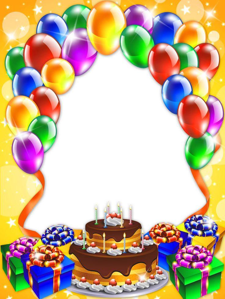 Детские открытки с днем рождения фотошоп