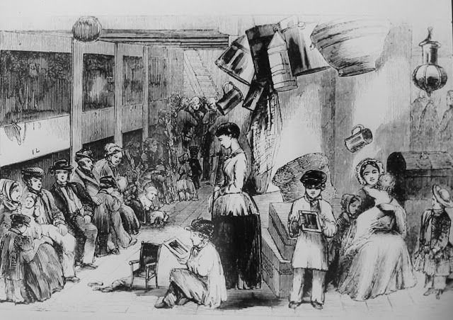 Emmigrants aboard the Lady Bruce, bound for Natal