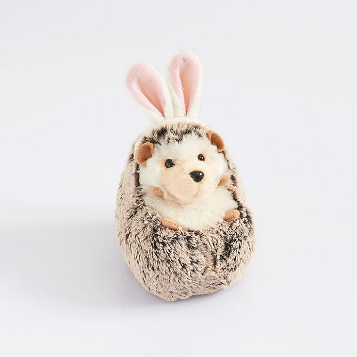 Non-candy Easter basket gifts: Hedgehog with Bunny Ears by Paper Source