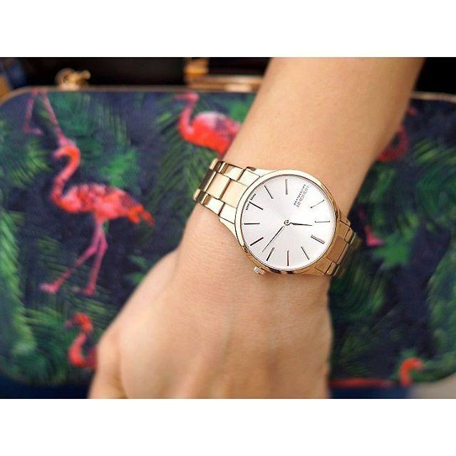 Klasyczny zegarek i kolorowa stylizacja. #Wiosna #spring #officeLook #stylizacja #Hanowa #HanowaWatch #watch #zegarek #zegarki #elegant #elegancki #classy #gold #butikiswiss #butiki #swiss #dlaniej