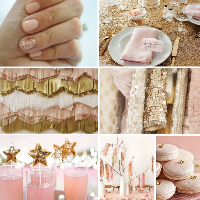 Pink And Gold Party Love The Sequin Stars