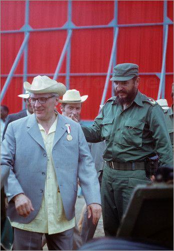 Klaus Morgenstern - State visit Erich Honecker in 1974 in Cuba