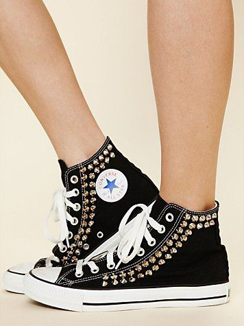 never worn converse but just maybe - anything gold studded ;)