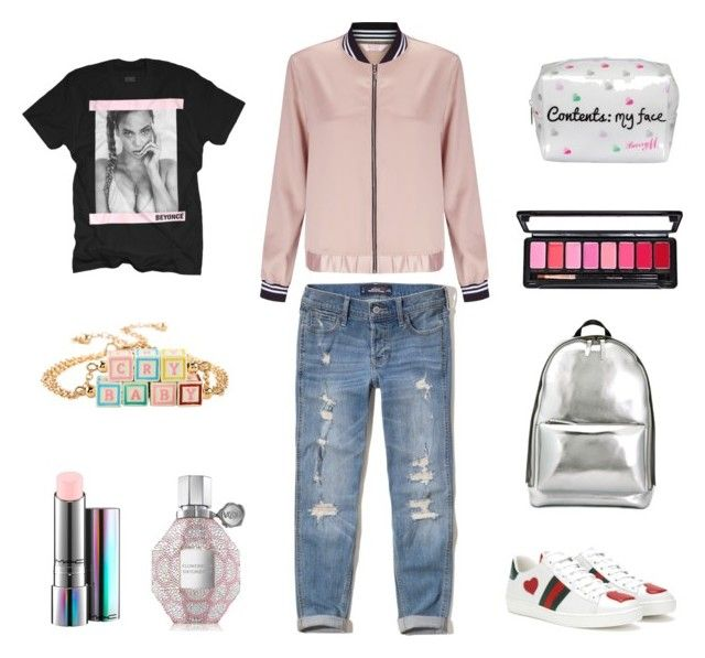 """Sweet style 🍭"" by aleksandra-alekseeva on Polyvore featuring мода, Hollister Co., Miss Selfridge, Gucci, 3.1 Phillip Lim, Lipsy, MAC Cosmetics и Viktor & Rolf"