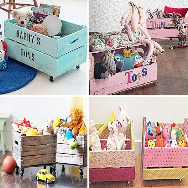 Caixotes de feira para organizar brinquedos - Blog Dactylo