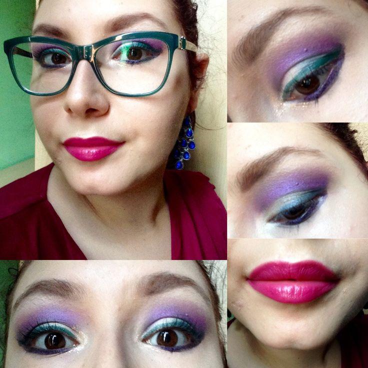 Smoky Bianco e Viola + Eyeliner Verde - Tutorial Trucco