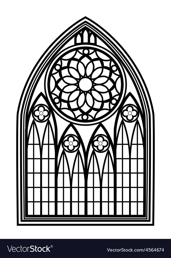 Window For Churches And Monasteries Vector Image On Gothic