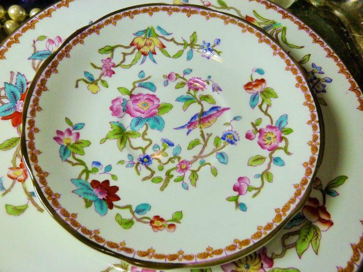 COALPORT TEA CUP AND SAUCER TRIO PEMBROKE SHAPE HP BIRDS AND FLOWERS c1827-30 | Antiques, Decorative Arts, Ceramics & Porcelain | eBay!