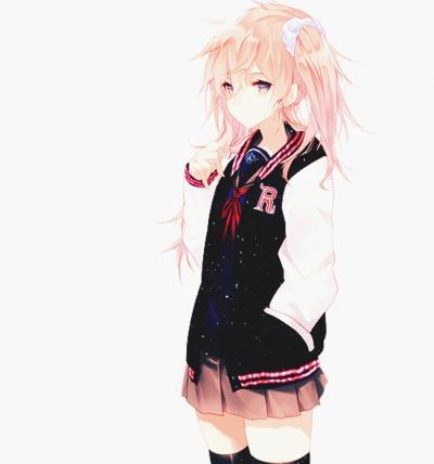 Anime Girl In Senior Jacket Art Pinterest Girls