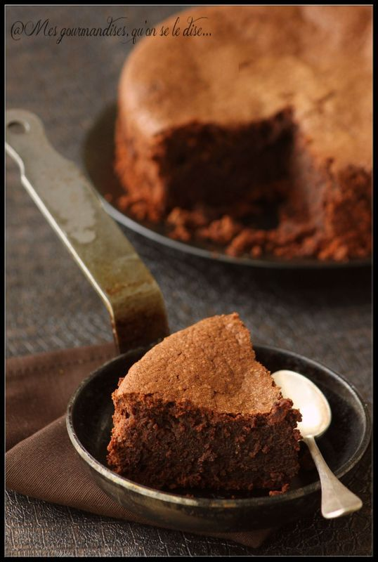 Gâteau au chocolat sans gluten (sans farine).