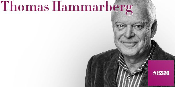 Thomas Hammarberg, tidigare Europarådets kommissionär för mänskliga rättigheter, har under större delen av sitt yrkesliv arbetat för att stärka de mänskliga rättigheterna i Europa och världen.  Läs mer om våra föreläsare och vårt program på http://www.lss20.se/