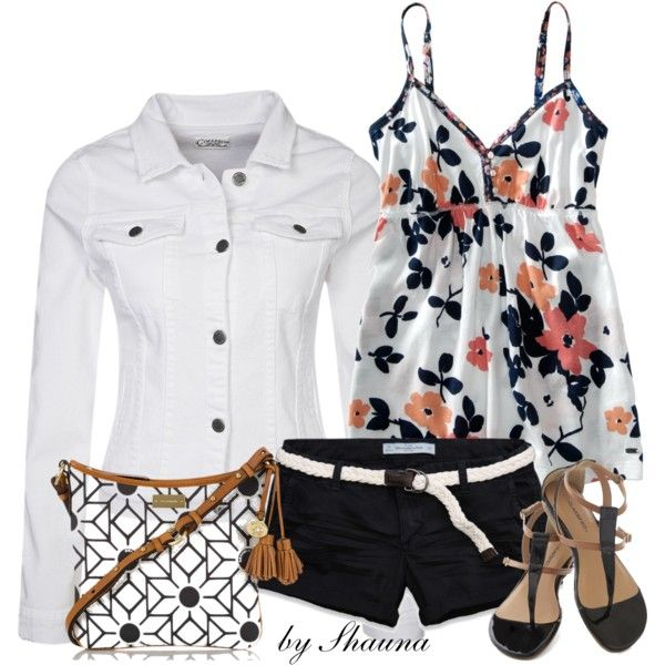 """""""white denim jacket"""" by shauna-rogers on Polyvore"""