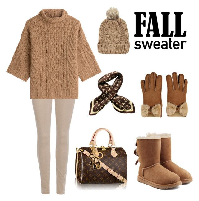 """""""autumn leaves"""" by ellenfischerbeauty ❤ liked on Polyvore featuring UGG, Chicnova Fashion, 7 For All Mankind, MaxMara, Louis Vuitton and UGG Australia"""