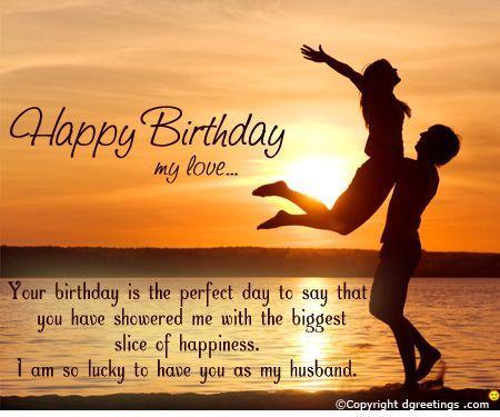 Birthday Greetings To Husband