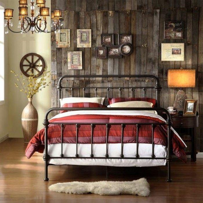 lit adulte en fer forgé lustre baroque lit deux places pas cher tapis en fourrure blanc