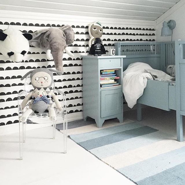 Nydelig barnerom hos @tannfeen.hjem 👌 -25% på det fine gulvteppe i nettbutikken
